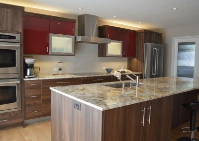 Contemporary Kitchen, red