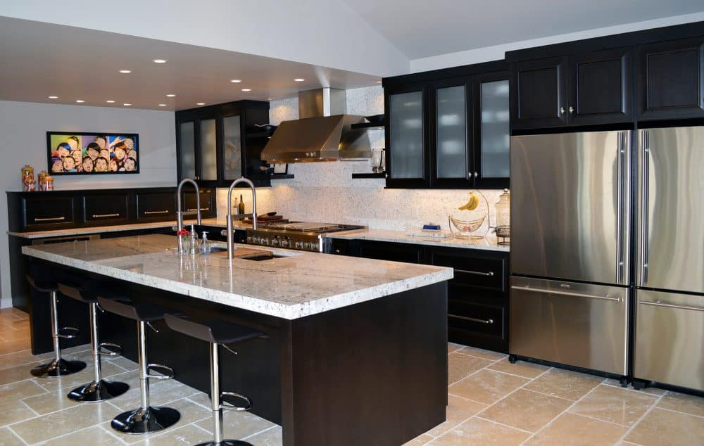 Contemporary Kitchen, dark cabinetry