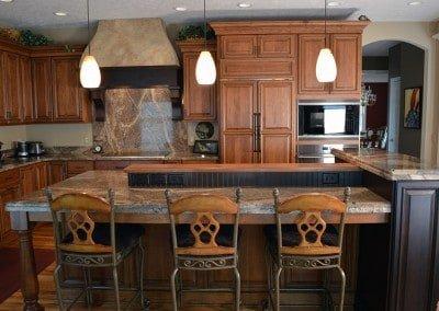 Traditional Kitchen, multi-level island